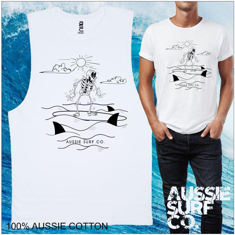 Shakin AUSSIE SURF CO Mens T-Shirt or Muscle Tee