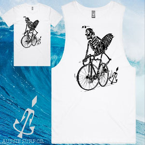 Aussie Surf Co - Muscle or T-Shirt - Skeleton Surfer