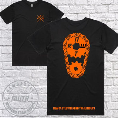 NWTR - Newcastle Weekend Trail Riders - Orange Sprocket- T-Shirt