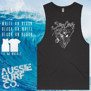 Aussie Surf Co - Muscle or T-Shirt - Stay Chilled - Mens