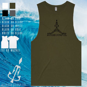 Aussie Surf Co - Muscle or T-Shirt - The Hill - Mens