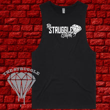 Load image into Gallery viewer, THE STRUGGLE - Muscle Tee -  Ladies  - The Struggle Logo - Black or White