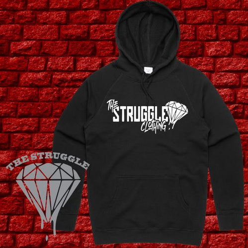 THE STRUGGLE - Hoodie Midweight - Adult - The Struggle Logo - Black