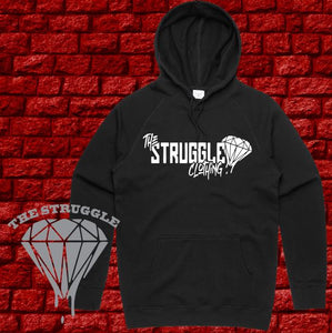 THE STRUGGLE - Hoodie Heavyweight - Adult - The Struggle Logo - Black
