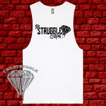 Load image into Gallery viewer, THE STRUGGLE - Muscle Tee - Mens - The Struggle Logo - Black or White