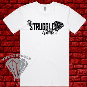THE STRUGGLE - T-Shirt - Mens - The Struggle Logo - Black or White
