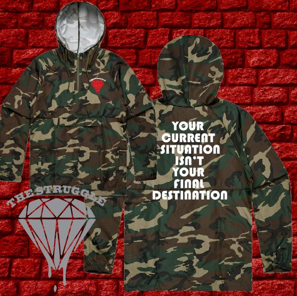 THE STRUGGLE - Camo Windbreaker Hoodie Jacket - Adult - Final Destination