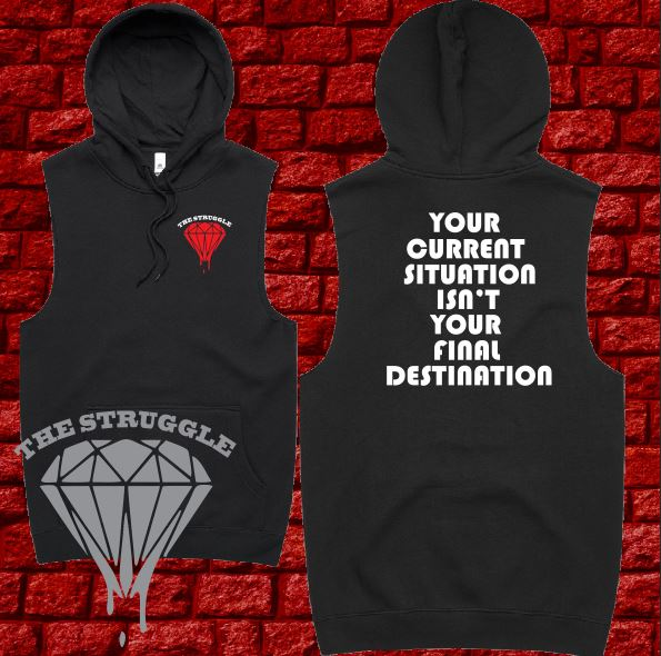 THE STRUGGLE - Hoodie Sleeveless - Adult - Final Destination - Black