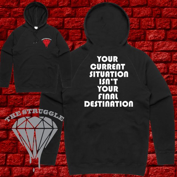 THE STRUGGLE - Hoodie Midweight - Adult - Final Destination - Black