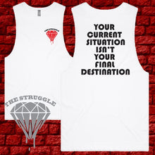 Load image into Gallery viewer, THE STRUGGLE - Muscle Tee - Ladies - Final Destination - Black or White