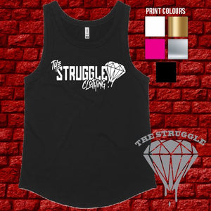 The Struggle - Tank - Ladies - Black
