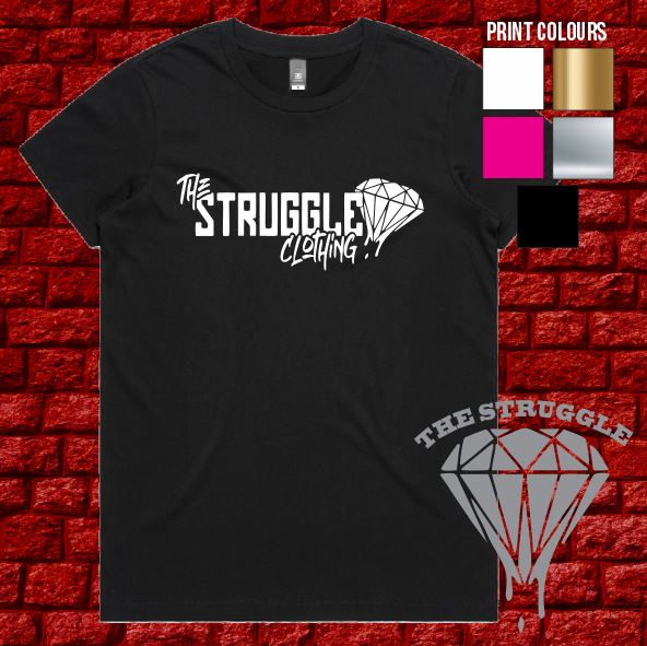 The Struggle - T-Shirt - Ladies - Black