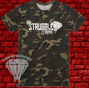 THE STRUGGLE - T-Shirt - Mens - The Struggle Logo - Camo