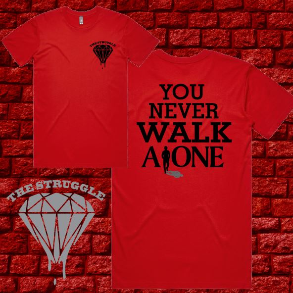 THE STRUGGLE - T-Shirt - Walk Alone (Red)