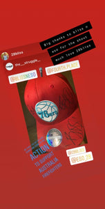 The Struggle - Auction Philadelphia 76ers Red 9FIFTY Cap autographed by Bliss n Eso - proceeds to Australian Firefighters