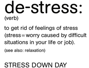 Lifeline - Stress Down Day Hoodie - Mens - Black or White