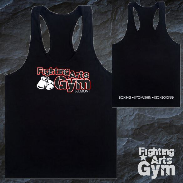 Fighting Arts Gym - Singlet  - Mens - Black