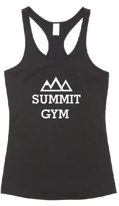 Summit Gym- T-back Singlet - Centre Print - Womens