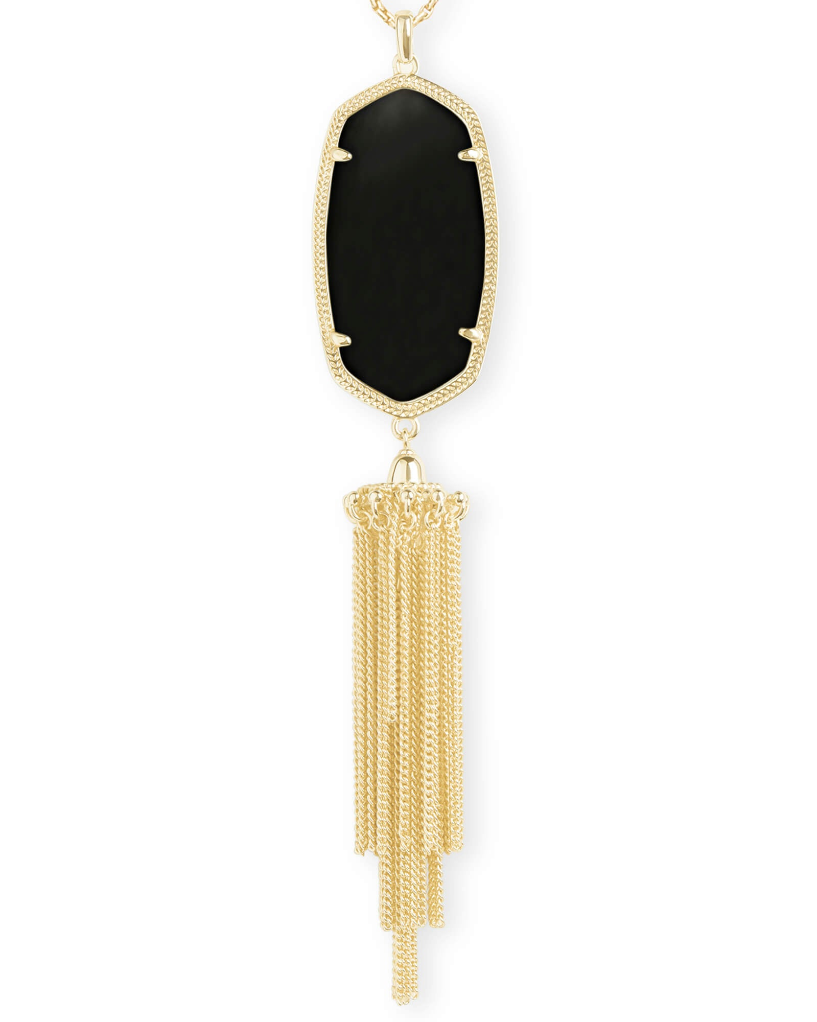 Rayne Necklace Gold In Black