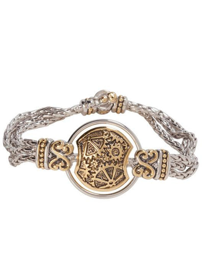 GEARS OF TIME CENTERPIECE BRACELET