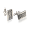 ITALGEM STEEL CLASSICO OXIDIZED DESIGN CUFFLINKS