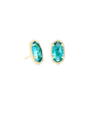 Kendra Scott Ellie Silver or Gold Stud Earrings Birthstones