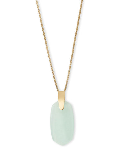 Kendra Scott Inez Gold Long Pendant Necklace Summer Pop