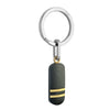 ITALGEM STEEL BLACK-YELLOW-IP S.STEEL CARBON MOKUNE KEYCHAIN