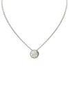 O-LINK COLLECTION LANNA SOLITAIRE PAVÉ NECKLACE