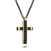 BLACK-IP ROSE-IP CROSS NECKLACE