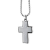 BRUSHED CROSS PENDANT
