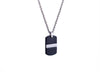 BLACK-IP MATTE TEXTURE DOGTAG NECKLACE