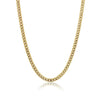 "ITALGEM STEEL YELLLOW-IP S.STEEL-7.7MM POLISHED CURB-22""-24"" CHAIN"