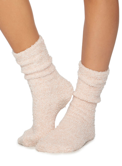 COZYCHIC® HEATHERED WOMEN'S SOCKS - DUSTY ROSE/ WHITE