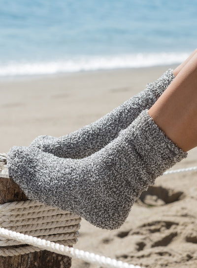 COZYCHIC® HEATHERED WOMEN'S SOCKS - GRAPHITE / WHITE