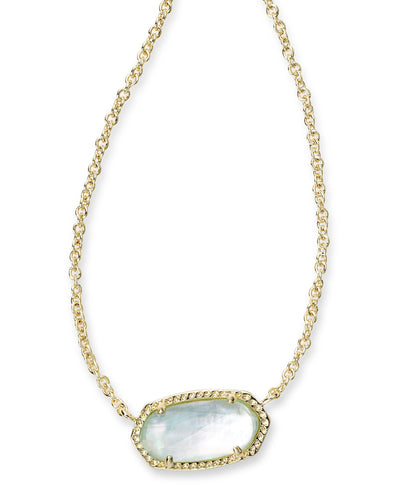 Elisa Pendant Necklace In Light Blue Illusion
