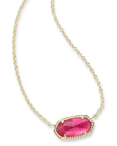 Elisa Pendant Necklace In Berry Illusion