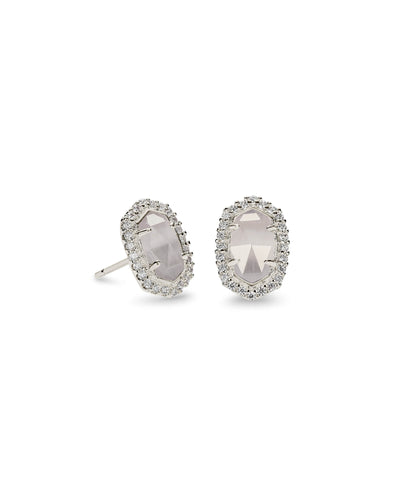 CADE EARRINGS - RHODIUM