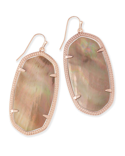 Kendra Scott Danielle Rose Gold Earrings Mother of Pearl