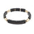 BLACK YELLOW LINK MEN'S BRACELET
