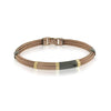 18K COFFEE-IP 5-ROW CABLE BRACELET
