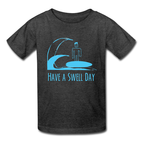Isaiah's 'Swell' Kids' Shirt - heather black