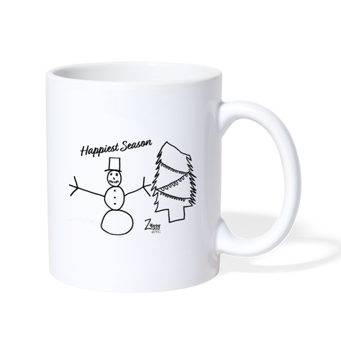 Happiest Season Holiday Mug - white