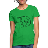 Happiest Season Women's T-Shirt - bright green