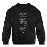 Ali's 'Trucks' Kids' Crewneck Sweatshirt - black