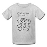 Paul's 'Owl' Valentine Kids' T-Shirt - heather gray