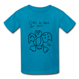 Paul's 'Owl' Valentine Kids' T-Shirt - turquoise