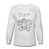 Paul's 'Owl' Valentine Long Sleeve T-Shirt - light heather gray