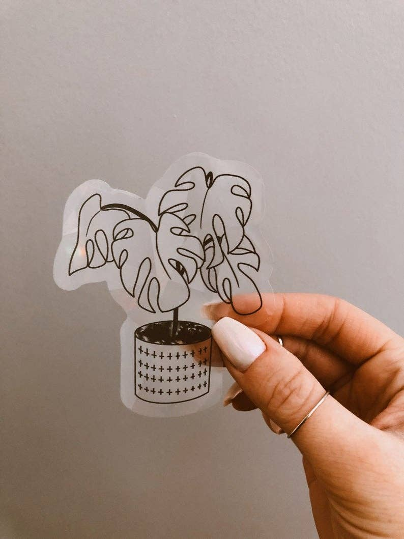 Monstera Suncatcher Sticker