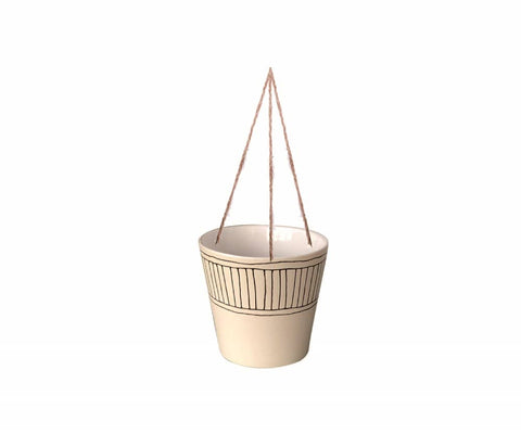 Hanging Colby Stripe Pot
